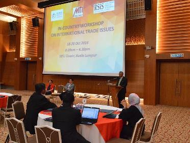 International Trade Issues Workshop, 18-20 October 2016